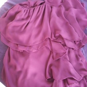 Used Parker Ophelia Ruffled One Shoulder off